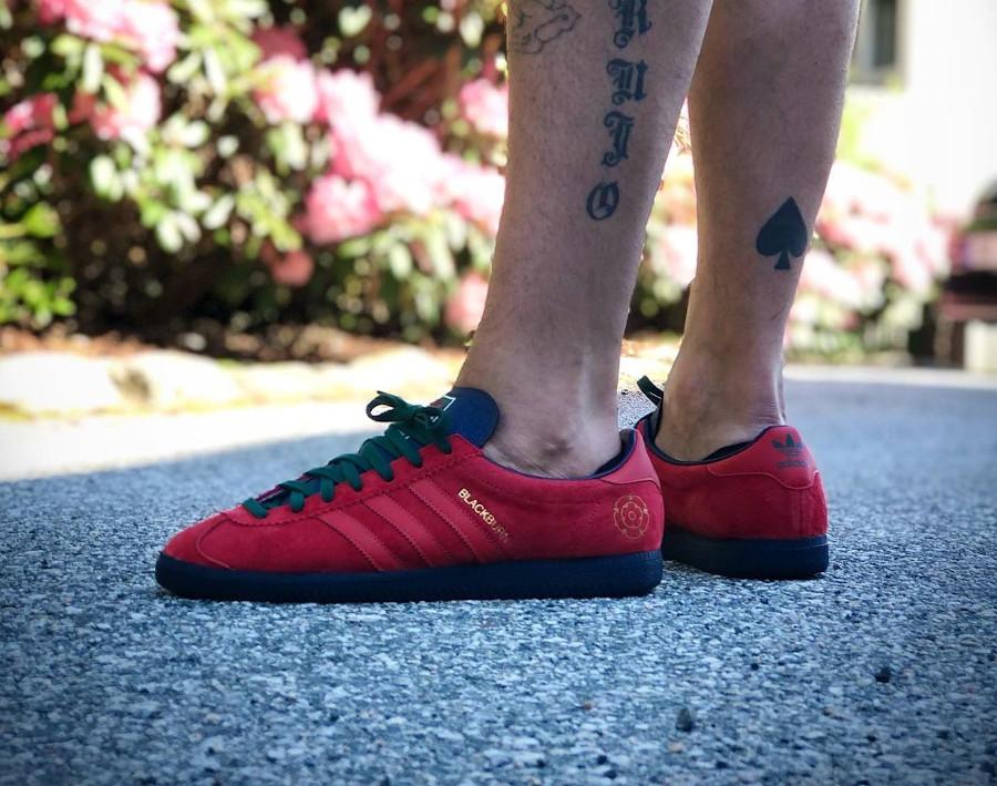 Adidas Blackburn rouge on feet (3)