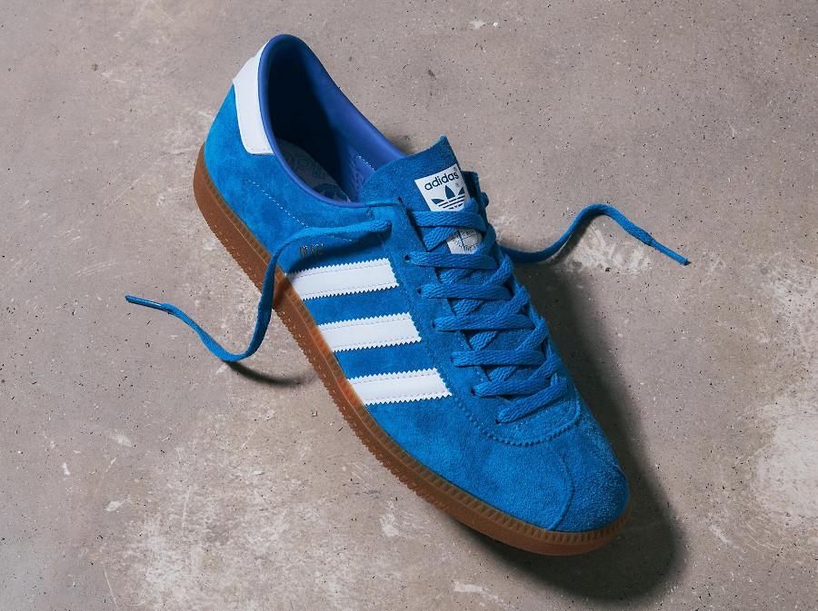 Adidas Bleu Bright Blue Metallic Gold (1)