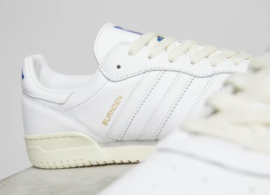 Adidas Burnden blanche et crème (1)