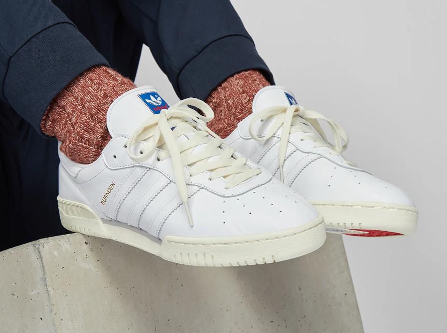 Adidas Burnden blanche et crème (2)