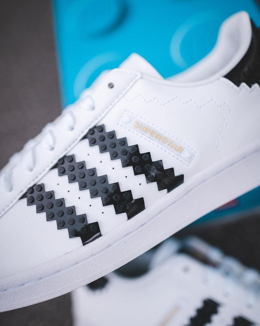 Adidas Superstar Lego blanche et noire (3)