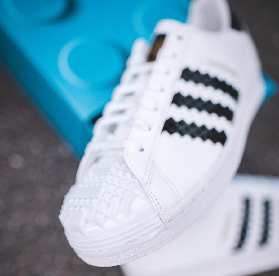 Adidas Superstar Lego blanche et noire (5)