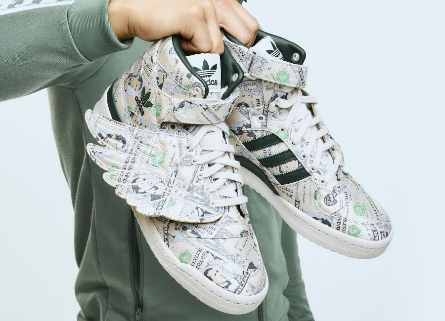 Adidas x Jeremy Scott JS Forum Wings 1.0 Money (billets de dollars) Q46154
