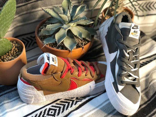 Chitose Abe x Nike x Sacai Blazer Low British Tan Iron Grey