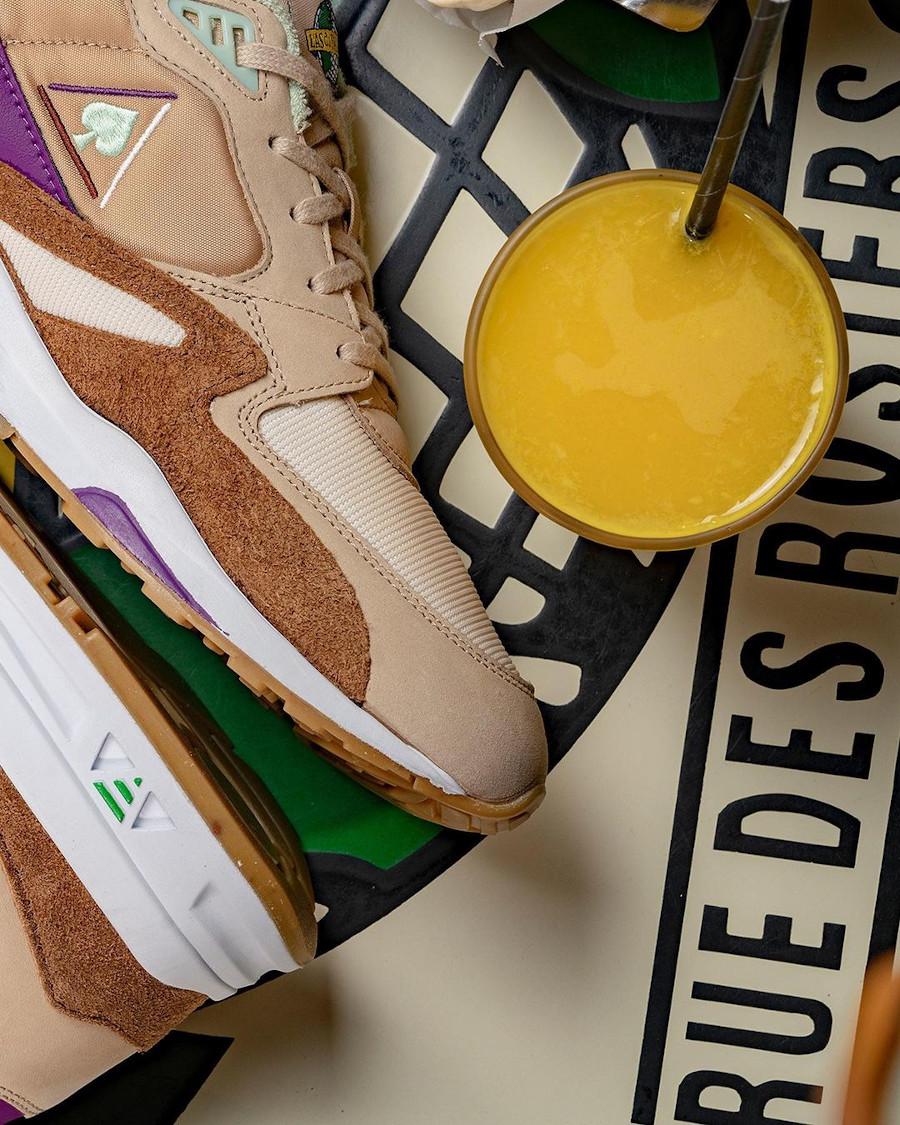 Le Coq Sportif r800 falafel marron et beige (4)