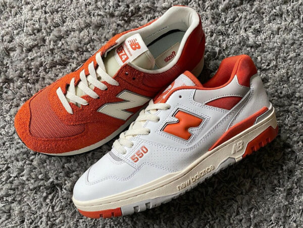 NB BB550 M574 Size Exclusive College Orange Pack