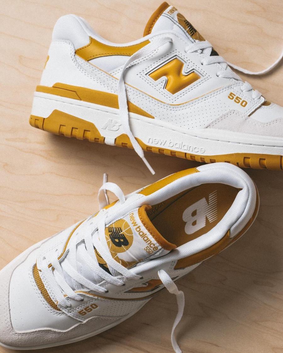 New Balance BB550 blanche et jaune (3)