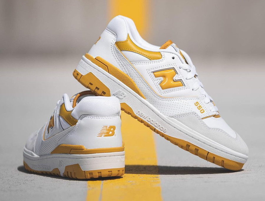 New Balance BB550 blanche et jaune (4)