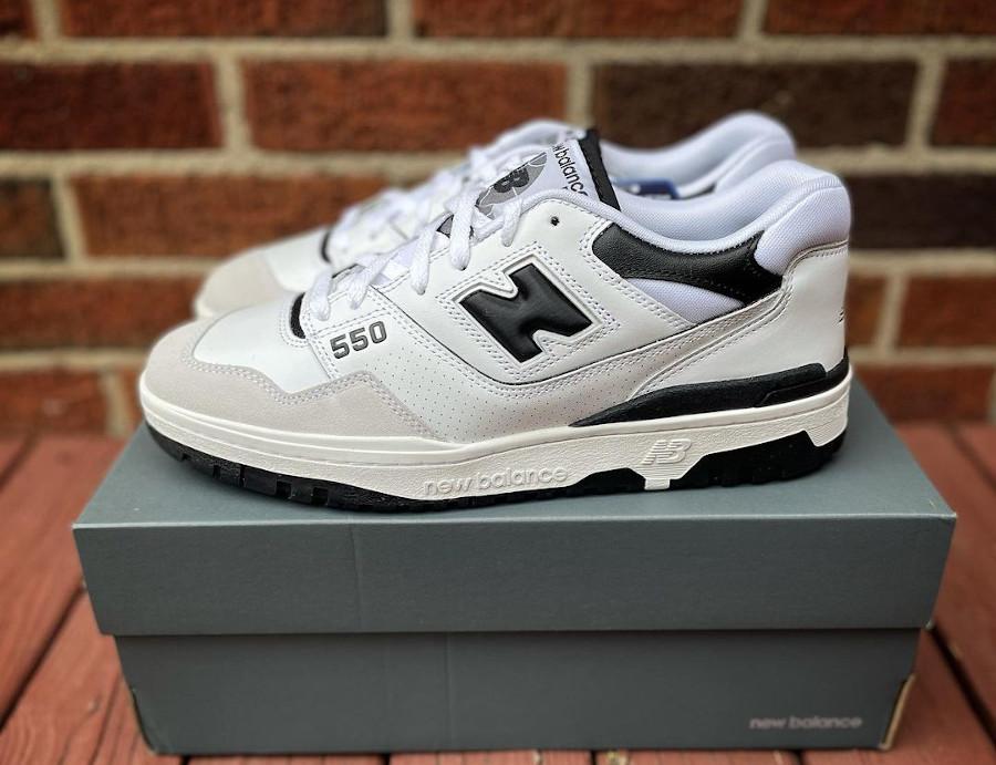 New Balance BB550 blanche et noire (3)