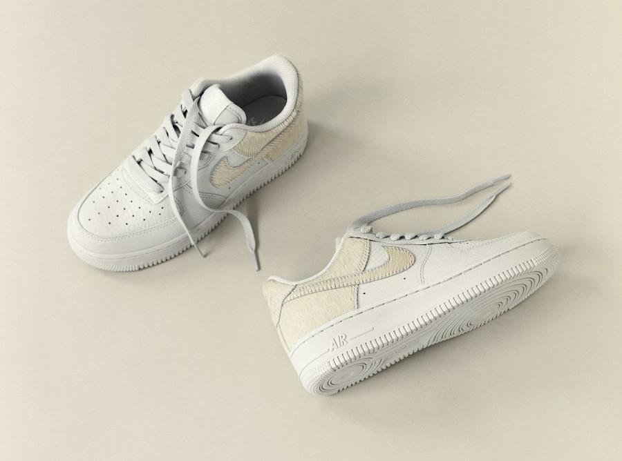 Nike Air Force 1 en fourrure blanche (4)