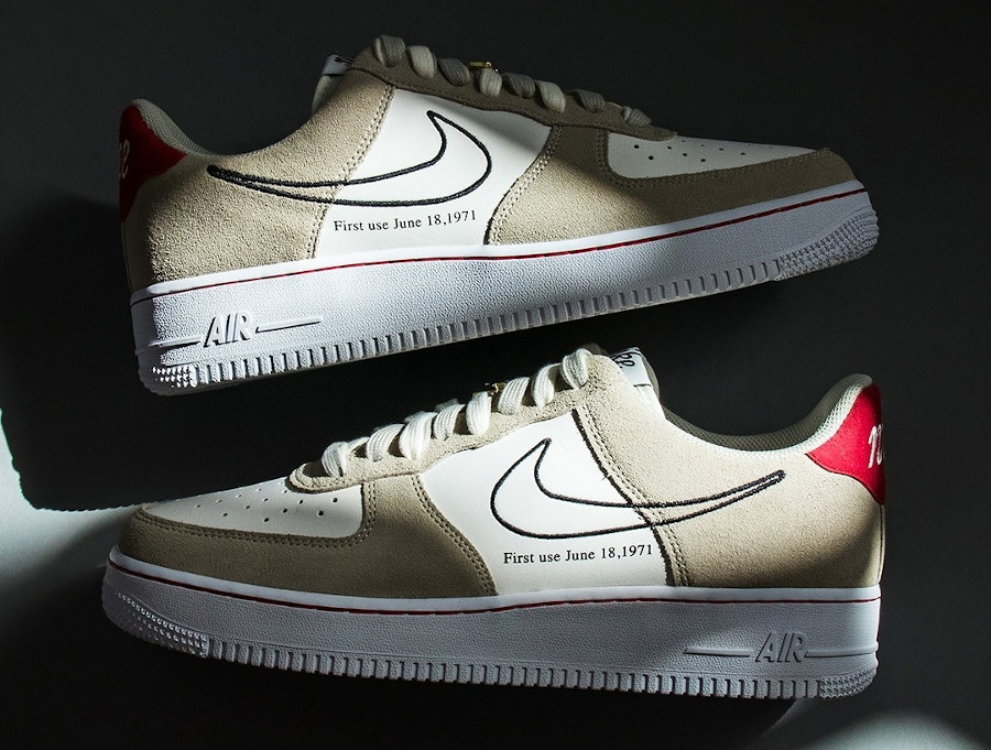 Nike Air Force One FU gris et blanche (2)
