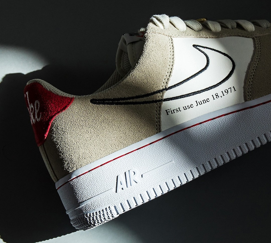 Nike Air Force One FU gris et blanche (3)