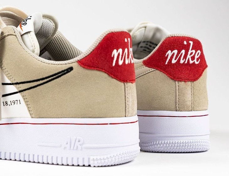 Nike Air Force One FU gris et blanche (5)