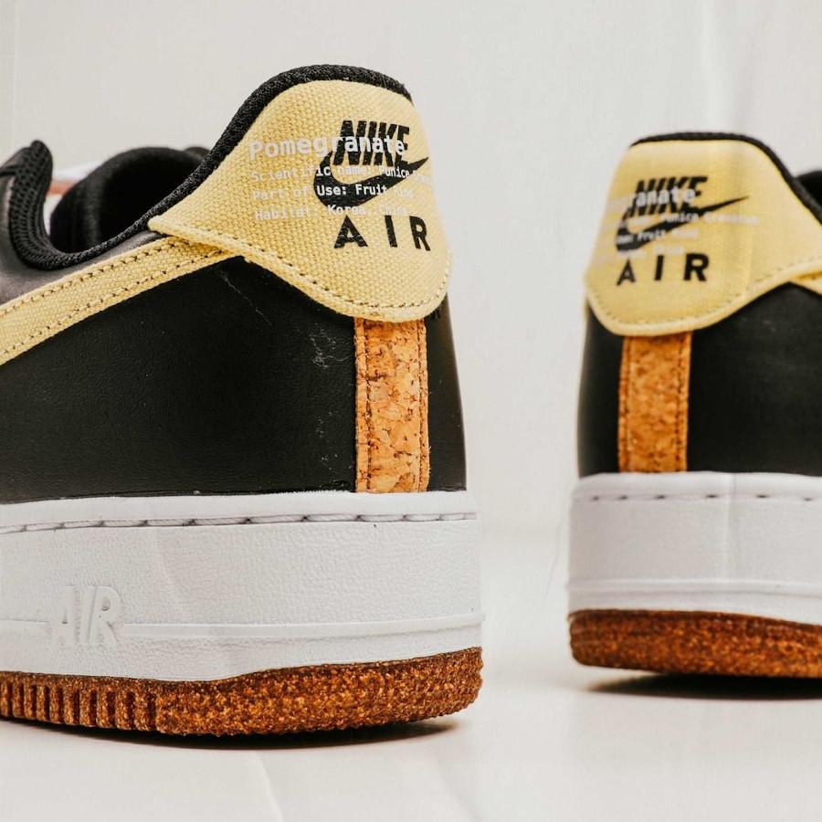Nike Air Force One Low noire broderie de grenade (1-1)