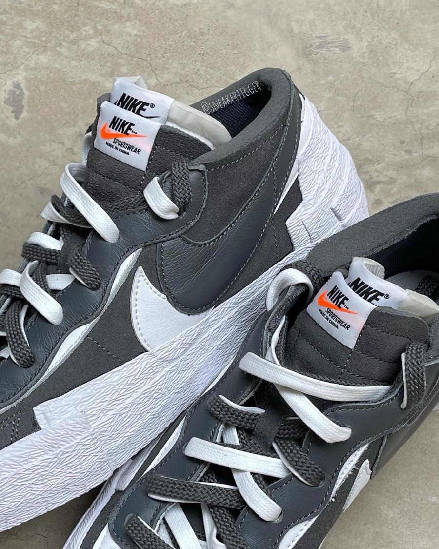 Nike Blazer Low Sacai grise et noire (1)
