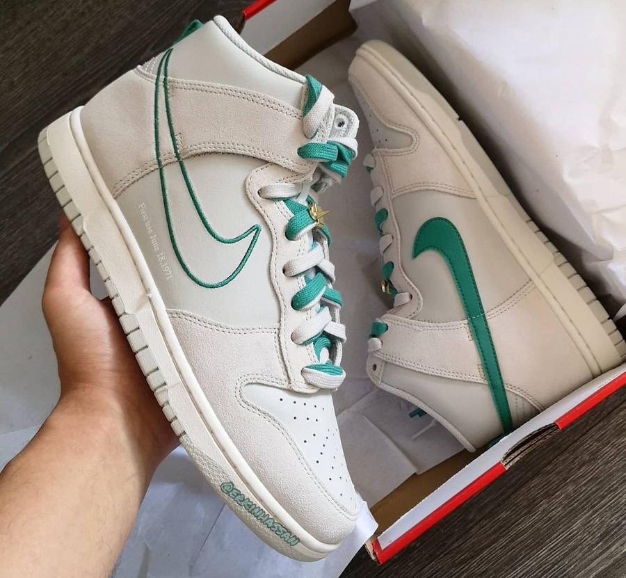 Nike Dunk Hi FU blanche et verte (1)