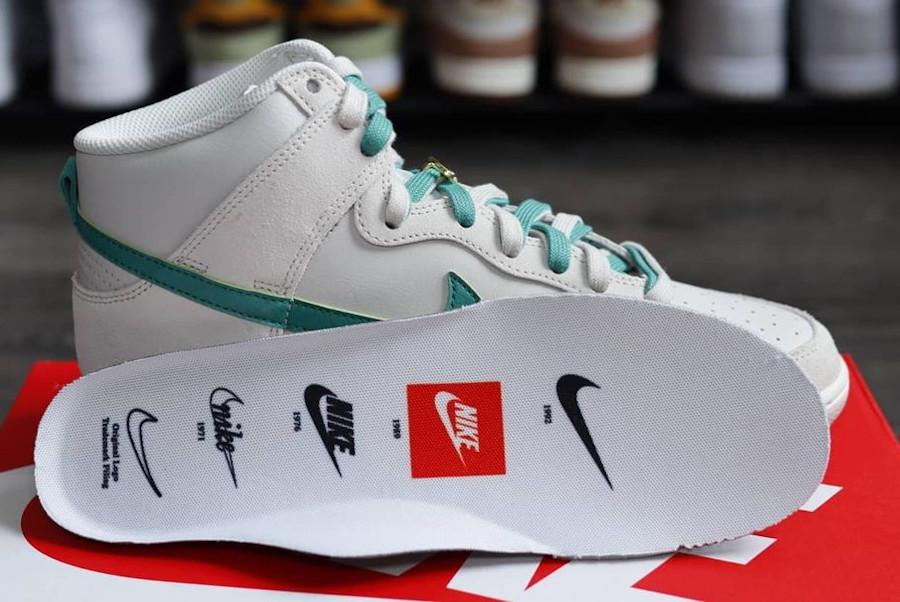 Nike Dunk Hi FU blanche et verte (2)