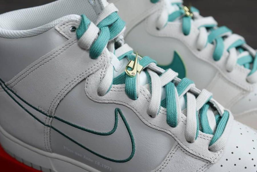Nike Dunk Hi FU blanche et verte (3)
