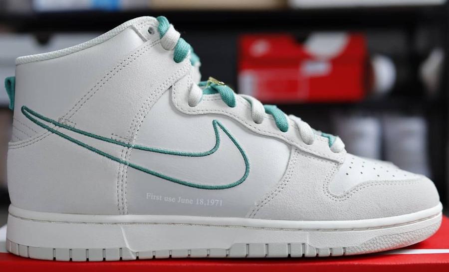 Nike Dunk Hi FU blanche et verte (4)