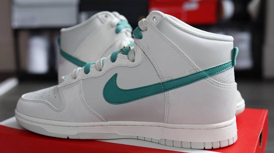 Nike Dunk Hi FU blanche et verte (6)