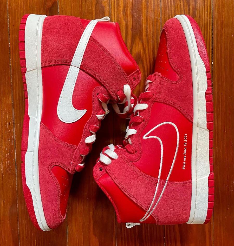 Nike Dunk Hi FU rouge (4)