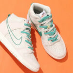 Nike Dunk High First Use Green Noise Light Bone