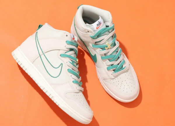 Nike Dunk High SE First Use 50th Swoosh Green Noise