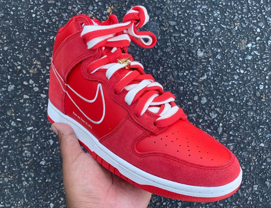 Nike Dunk High SE First Use Red 50th Swoosh Anniversary