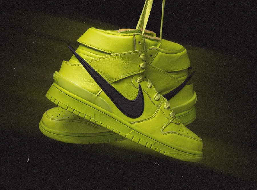 Nike Dunk High motorcycle vert citron (1)