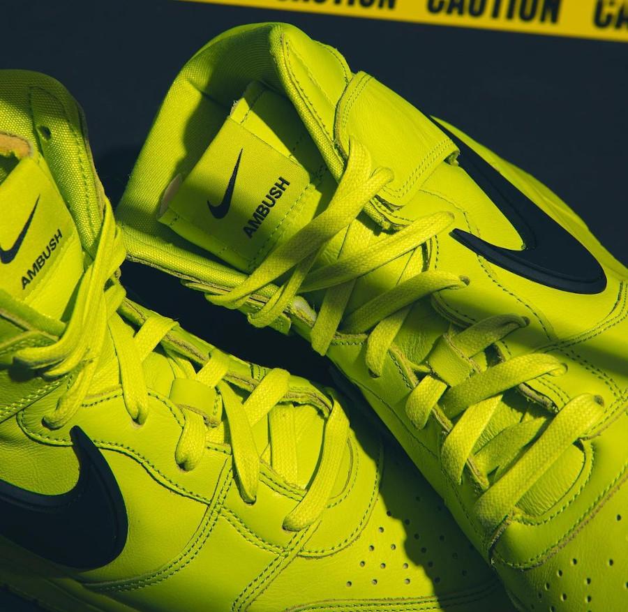Nike Dunk High motorcycle vert citron (3)