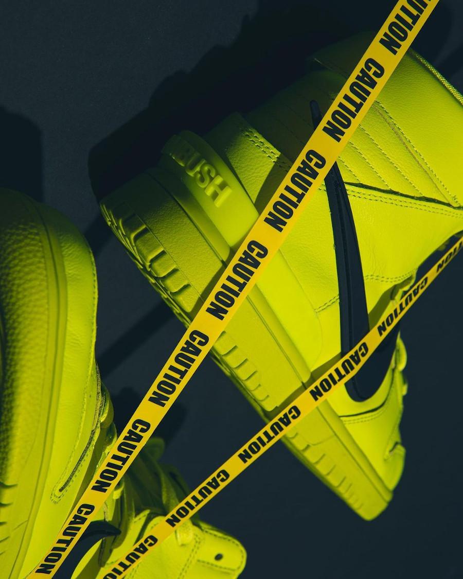Nike Dunk High motorcycle vert citron (4)