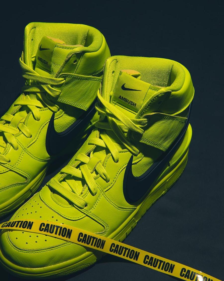 Nike Dunk High motorcycle vert citron (5)