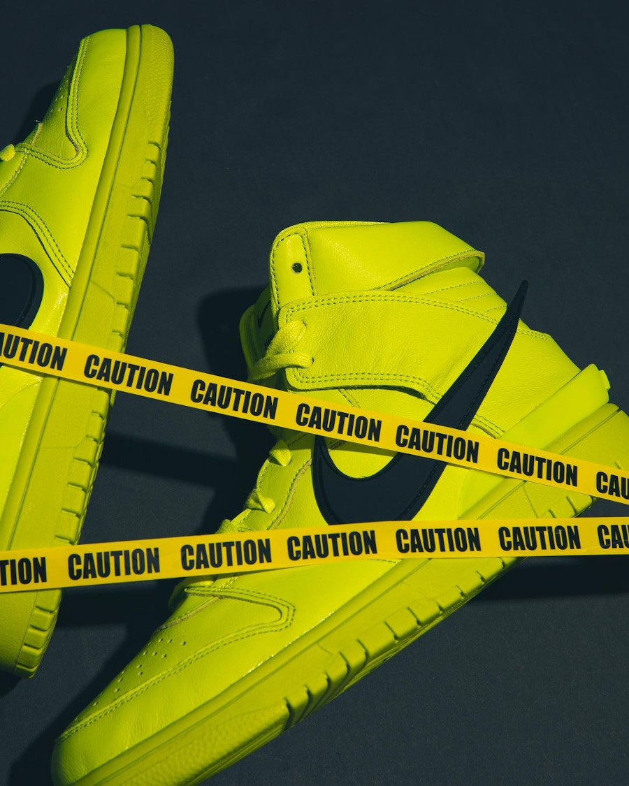 Nike Dunk High motorcycle vert citron (6)