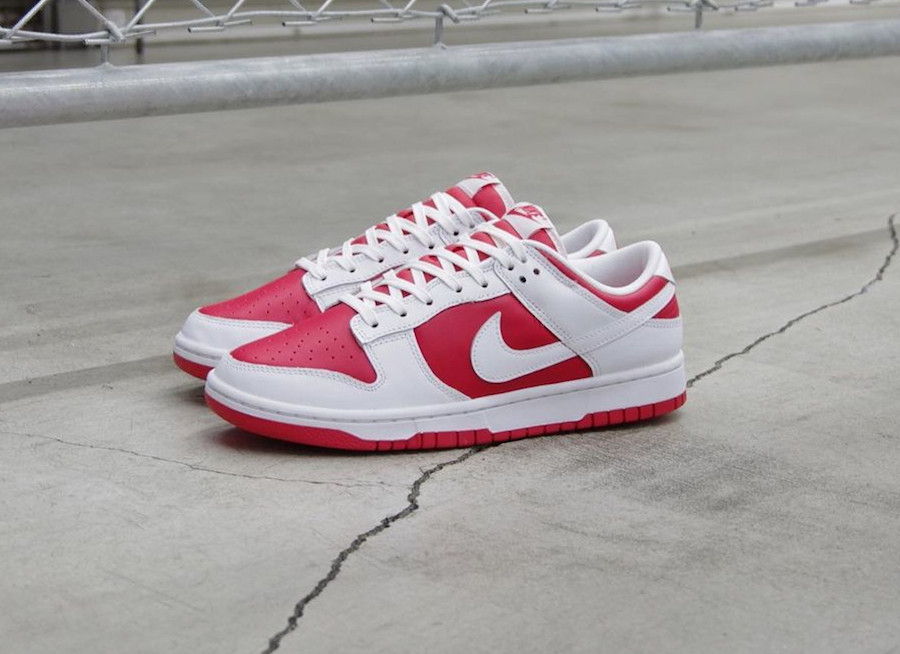 Nike Dunk Low blanche et rouge 2021 (1)