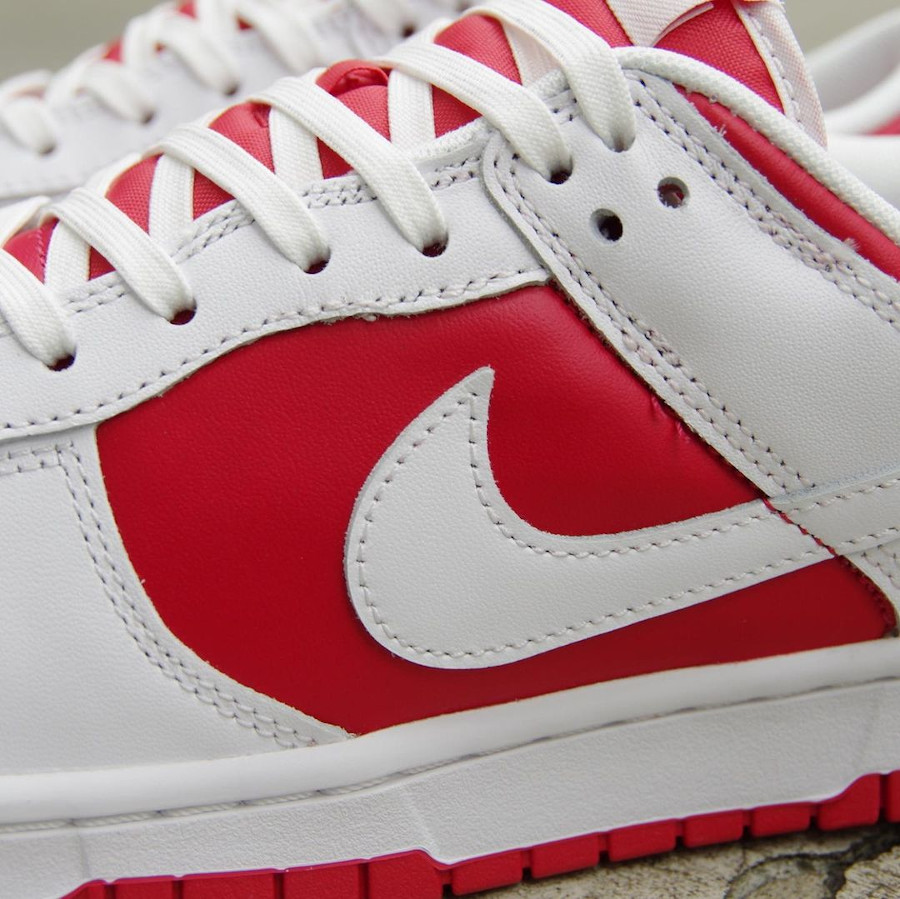 Nike Dunk Low blanche et rouge 2021 (2)