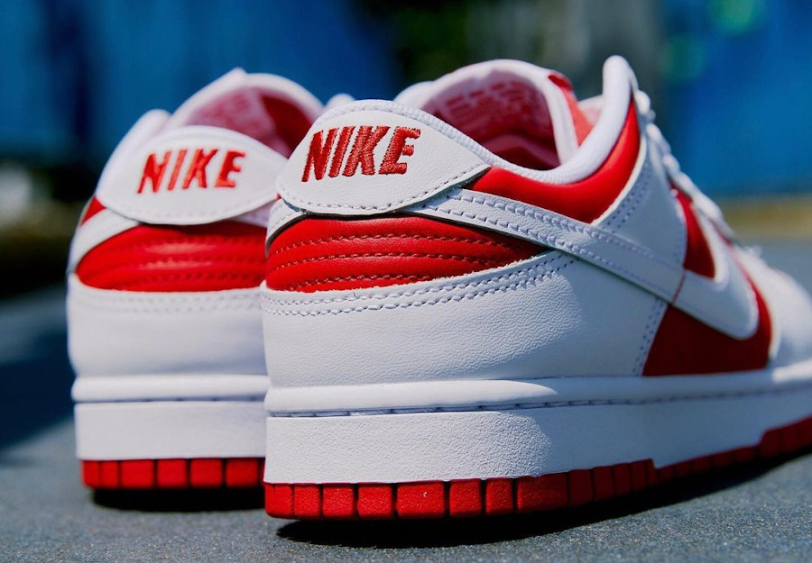 Nike Dunk Low blanche et rouge 2021 (4)