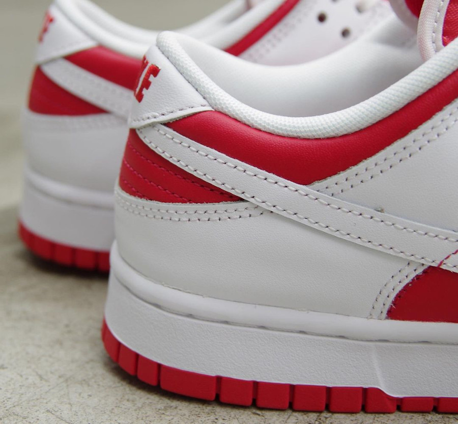 Nike Dunk Low blanche et rouge 2021 (5)