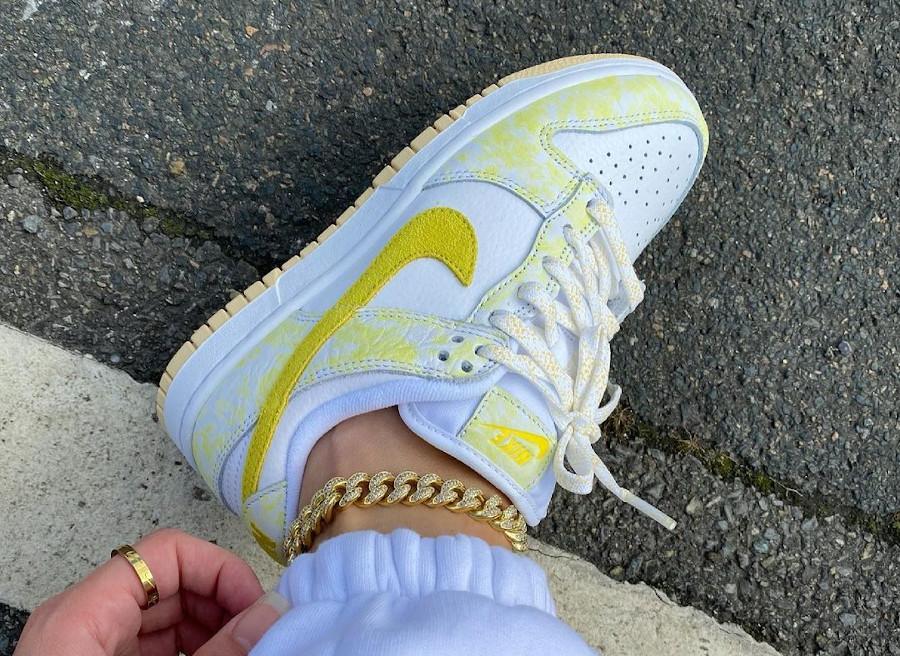 Nike Dunk Low jaune pastel qui change de couleur (2)
