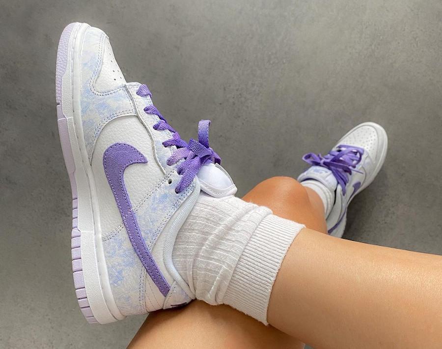 Nike Dunk Low violette qui change de couleur (1)