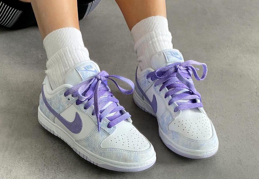 Nike Dunk Low violette qui change de couleur (2)