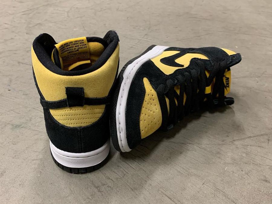 Nike Dunk high SB Pro jaune et noire (1)