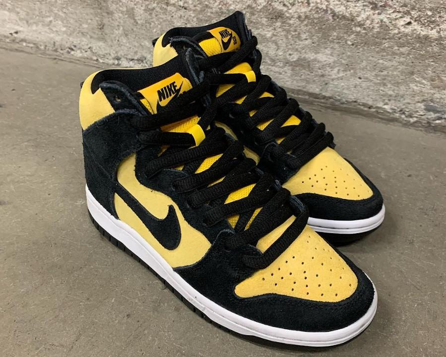 Nike Dunk high SB Pro jaune et noire (4)
