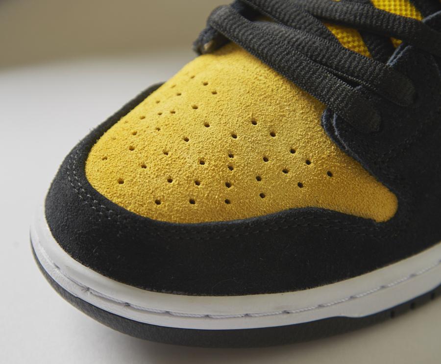 Nike Dunk high SB Pro jaune et noire (5)
