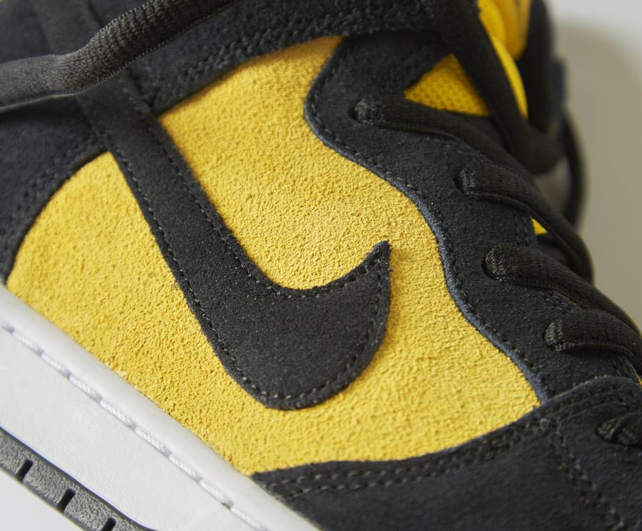Nike Dunk high SB Pro jaune et noire (6)