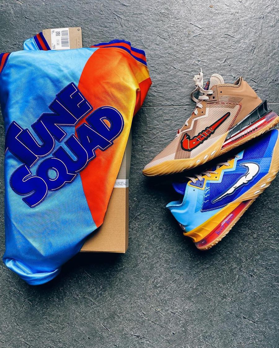 Nike Lebron 18 Low Bip Bip et Coyote (1)