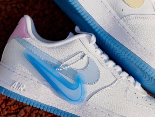 Nike W AF1 '07 LX UV Reactive Swoosh White Blue
