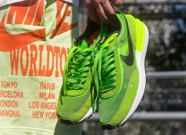 Nike Waffle One vert pomme (1)