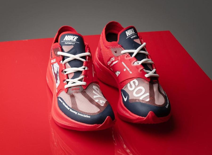 Nike ZoomX Vaporfly Next% 2 Gyakusou rouge et bleu foncé (1)