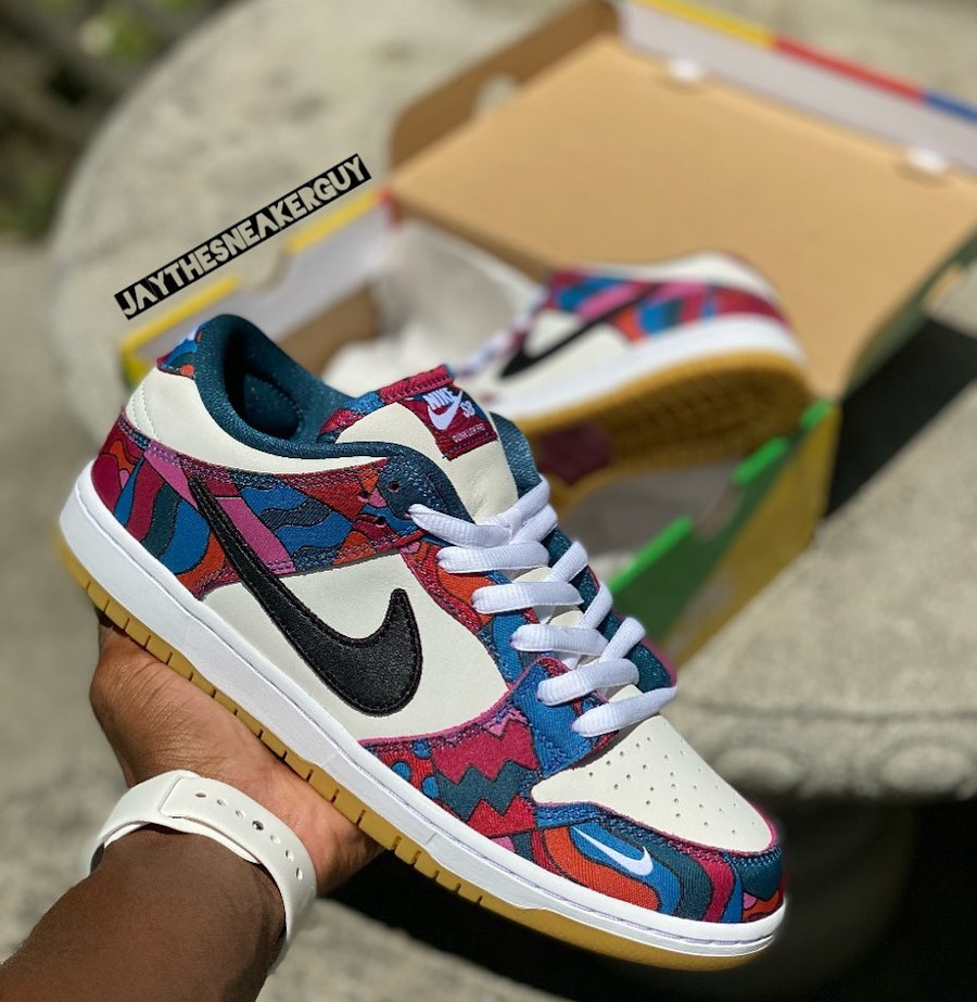 Nike x Parra SB Dunk Low Pro Abstract Art Tokyo Olympic