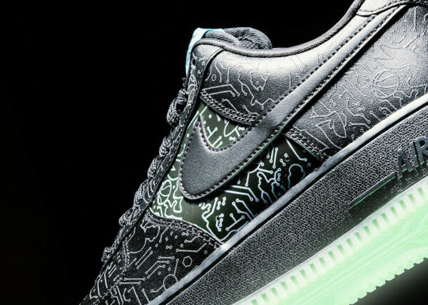 Nike x Space Jam AF1 '07 Computer Chips 3M Reflective (couv)